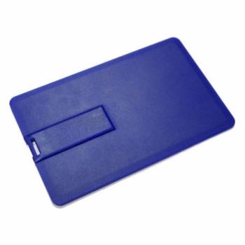 Флешка VF-801С синий, визитка пластиковый корпус
