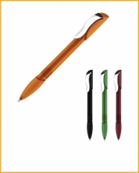 Шариковая ручка Hattrix Clear Soft grip Clip Metal арт. 2419