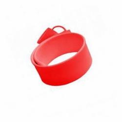 Флешка VF-201 красный, силиконовый браслет