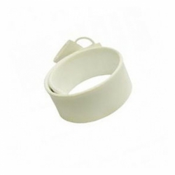 Флешка VF-201 белый, силиконовый браслет