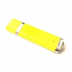 Флешка VF-660 желтый, прямоугольный пластиковый корпус