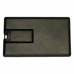 Флешка VF-801С черный, визитка пластиковый корпус
