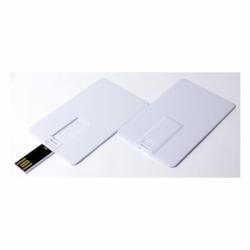 Флешка VF-801С белая, визитка-кредитка пластиковый корпус