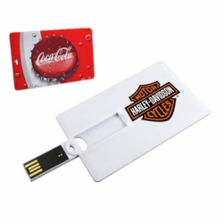 Флешка VF-801С3 белая, визитка-кредитка пластиковый корпус