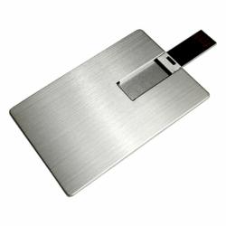 Флешка VF-801m, визитка металлический корпус